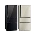 Panasonic 國際牌 610L 雙效科技變頻三門冰箱 NR-C618NHV (光釉黑/香檳金)