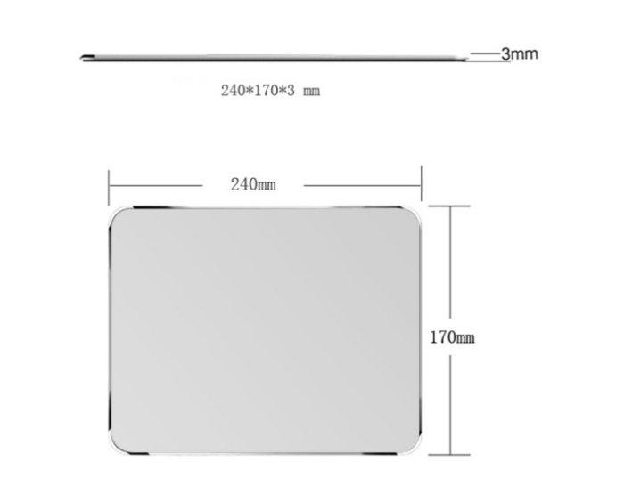 【運費60滿600免運】 鋁合金滑鼠墊 時尚滑鼠墊 質感滑鼠墊 防滑滑鼠墊03