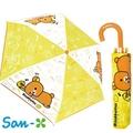 含稅日本正版 San-X 拉拉熊 Rilakkuma 趴睡款 雨傘 輕量型 晴雨傘 折疊傘 附傘套【042205】