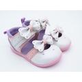 日本Moonstar(Carrot)機能寶寶學步鞋-花朵涼鞋款-(全新無鞋盒13號)