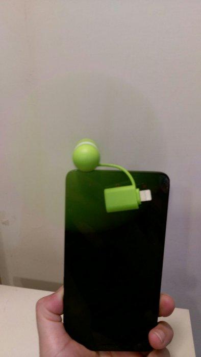 雙頭共用 迷你風扇 蘋果/安卓 二合一雙頭風扇 隨身小電扇 手機風扇 便攜風扇03
