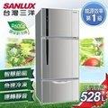 台灣三洋 528L三門直流變頻冰箱 SR-B528CV另售NR-C618NHV