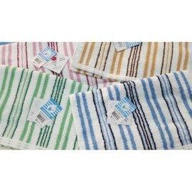 ~整打最 ~詠漢精緻毛巾~ LK669 LIUKOO煙斗牌34兩 ~精緻彩條系列~素色橫紋 毛巾