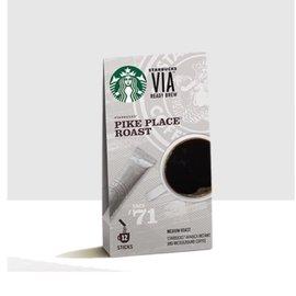 星巴克VIA®派克市場烘焙即溶咖啡 派克市場 VIA 咖啡粉 咖啡豆 派克(317元)