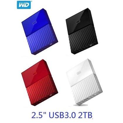 全新 含稅 WD My Passport 2T(白) 2.5 USB3.0 2TB 2.5吋 行動硬碟(WESN)