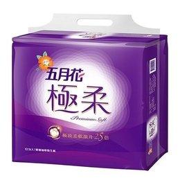 五月花極柔頂級抽取式衛生紙110抽*6包*12袋/箱