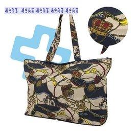 陽光角落~EUS11~HAPI+TAS馬車圖案折疊購物袋旅行袋 購物袋 可背可掛可插套行李箱拉桿 行李箱插袋
