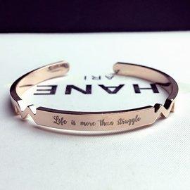 韓國  氣質 玫瑰金 銀色 鈦鋼 開口 手環 手鐲 手鍊 亮面 光面 橢圓 超顯白 款 情