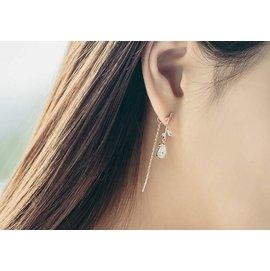 仙女下凡~葉子鑽石長款耳環~