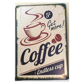 ~鐵板畫倉庫~美式壁畫COFFEE咖啡杯咖啡豆 海報復古風文青最愛餐廳咖啡廳酒吧裝飾鐵板畫鐵皮畫鐵版畫 C023