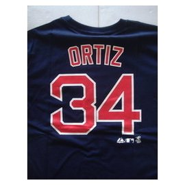 MLB 美國職棒大聯盟 波士頓紅襪 老爹 ORTIZ 短袖背號T恤 世界大賽MVP
