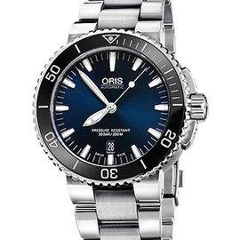 Oris Aquis 時間之海中型潛水機械錶~藍 43mm