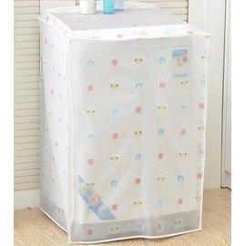 透明印花洗衣機防塵防曬蓋布/家用防水滾筒洗衣機罩套