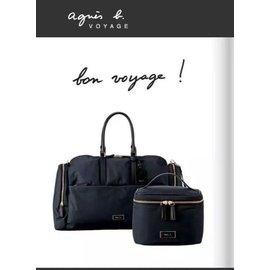 日本 agnes.b 旅行袋 小b Voyage 經典 側背包 斜背包 旅行包 防水 尼龍 大容量 黑 藍 兩色