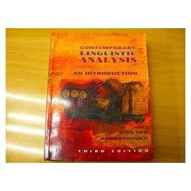 ~其它英文_Dda~~Contemporary Linguistics Analysis~