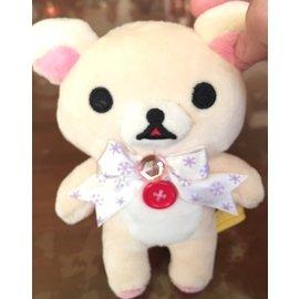 【現貨】Rilakkuma 拉拉熊蝴蝶結站立公仔 懶懶熊 絨毛玩具 娃娃 輕鬆熊 白熊(小)