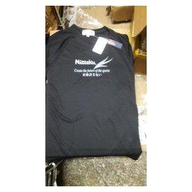 桌球孤鷹~正品Nittaku球衣~ 黑色 ~ 好~穿著舒適~ 款印刷新貨到!