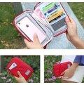 (TRF001)多夾層分隔護照卡包 收納 外幣 票捲 紙鈔 卡片 鑰匙 零錢 手機  護照包 皮夾