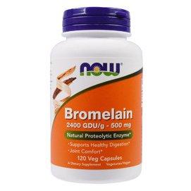 <預購> Now 鳳梨酵素2400GDU (500mg) 120粒 素食 Bromelain