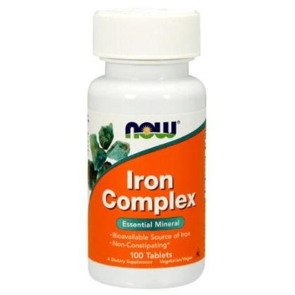 Now 鐵+葉酸+當歸+B12 100粒 素食 Iron Complex