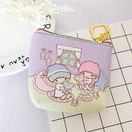 超 kitty 雙子星kikilala 防水 pu收納 零錢包 硬幣包 裝耳機包 鑰匙包