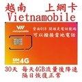 越南 Vietnamobile 電信 30日15G流量上網卡 (附轉接卡及sim卡收納盒)