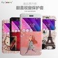 韓國彩繪開窗 華碩ZE552KL手機殼zenfone3手機套智能翻蓋皮套保護套卡通皮套