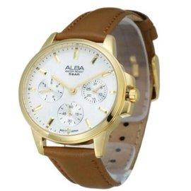 ‼️實拍‼️現貨‼️ALBA金框邊皮手錶