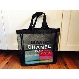 全新正品贈品 CHANEL 香奈兒 小香 優質網紗沙灘包 購物袋 環保袋 出清