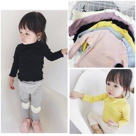 兒童 女童 秋裝 長袖上衣 圓領T恤 素T 純色 外穿 內搭  女寶 嬰兒 衣服 木耳邊 衛生衣 睡衣 居家服