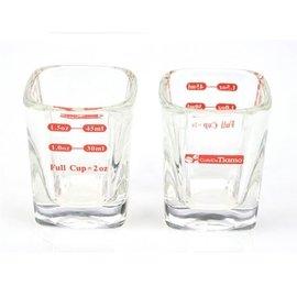 晴天咖啡 Tiamo 義式咖啡 玻璃 方形量杯 2oz 耐熱玻璃量杯 AC0015 義式咖