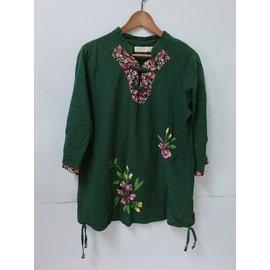 (二手)蘭陵中國風-棉質上衣七分袖