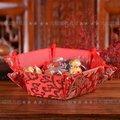 [MARR-A176]蘇杭綢緞糖果盤果盆 復古嫁妝中式創意結婚裝飾佈置婚慶用品