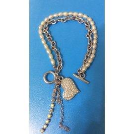 閃亮愛心珍珠雙層手鍊