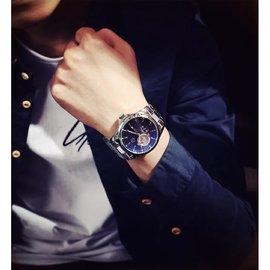2017 炫彩藍光 機械錶 情人節禮物 手錶 藍光 錶 男士錶 商務錶 小資女 非 DW 阿曼尼 香奈兒 coach