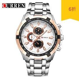 限時優惠 正品 CURREN卡瑞恩 男士手錶 石英錶 潮流腕錶 8023 CITIZEN SEIKO 可參考(349元)