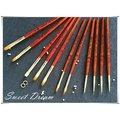 【美甲工具】光療筆刷。紅木桿筆刷組。彩繪筆。光療筆。平筆圓頭筆暈染筆。拉線筆。(80元)