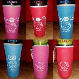 [YAO TOWN現貨]Hello Kitty保溫杯杯套 KT 哆啦A夢杯套 大號款(18.5x6.5CM)非星巴克杯套