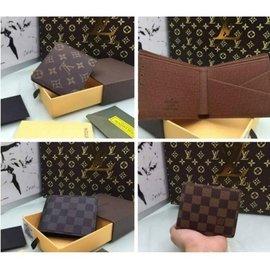 【米蘭坊】LV經典款男士真皮 Louis Vuitton短夾錢包 老花棋盤格皮夾 男士手包手抓包錢包 LV零錢包