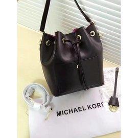【米蘭坊】MICHAEL KORS MK新款水桶包 頭層牛皮 單肩斜跨女包 五色可選 歐美時尚 明星同款