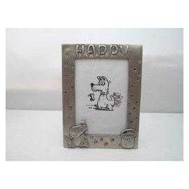 ~菲比的寶貝屋~~ PT02~25 HAPPY小狗 3.5  ~5  鋅合金金屬相框