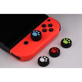 【希金博特姆】Nintendo Switch NS 任天堂 JOY-CON手把控制器專用 貓咪肉球造型 類比 保護套 搖桿 香菇頭(一組四入)