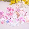 【文具樂園】自製手帳貼紙 文青風 筆記貼紙 童話 甜點 兔子 自製貼紙20-22枚入