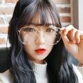 現貨-;韓版( 附眼鏡袋、拭鏡布 ) 復古圓框眼鏡 平光造型眼鏡框 小清新復古圓型金屬框金屬大圓框眼鏡 各種臉型適合