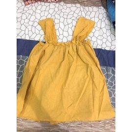 芥末黃薑黃色背心 平口上衣