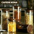 菲菲生活館  CAFEDE KONA 咖啡豆密封罐 無鉛廣口玻璃瓶 咖啡粉食品裝茶葉儲物 玻璃密封罐