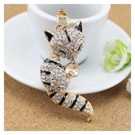 ~不挑色~韓國水鑽鑰匙圈 狐狸鑰匙圈 金屬鑰匙圈 鑰匙扣 婚禮小物 可愛 包包掛飾 量大可