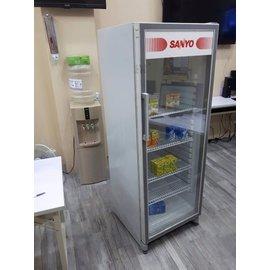 三洋SANYO 305公升營業用冰箱75KG冷藏櫃展示櫃SRM~305HR電壓110V 限