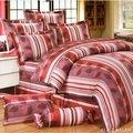 6期0利率【台灣製造】100%精梳純棉-3.5呎x6.2呎-三件式-單人鋪棉兩用被套床包組-床包兩用被套組-6928RD