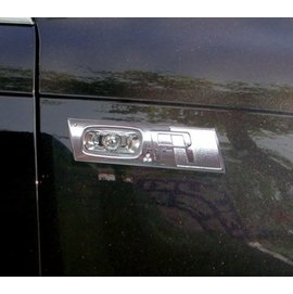 ~圓夢工廠~Audi 奧迪 A6 2004~2010年 鍍鉻鑲鑽側燈框 方向燈框